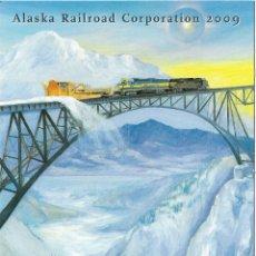 Postais: POSTAL PUBLICITARIA ALASKA RAILROAD CORPORATION - DORSO PUBLICITARIO. Lote 193112253