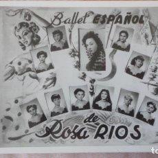 Postales: ANTIGUA POSTAL.BALLET ESPAÑOL DE ROSA RIOS. FIRMADA 1956. Lote 193280110