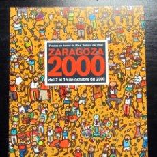 Cartes Postales: POSTAL FIESTAS DEL PILAR ZARAGOZA 2000. Lote 193399225