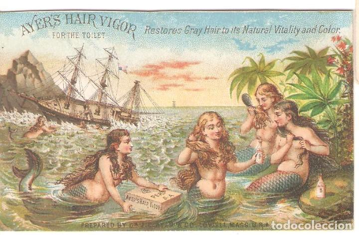TARJETA PUBLICITARIA, AYER'S HAIR VIGOR, MASS.USA (Postales - Postales Temáticas - Publicitarias)