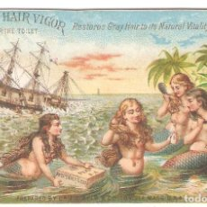 Postales: TARJETA PUBLICITARIA, AYER'S HAIR VIGOR, MASS.USA. Lote 194230965