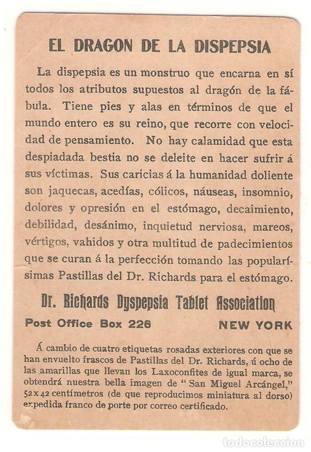 Postales: TARJETA PUBLICITARIA, PASTILLAS DEL DR.RICHARDS, USA - Foto 2 - 194231190
