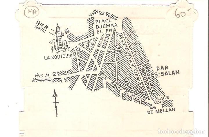 Postales: TARJETA PUBLICITARIA, RESTAURANTE DAR ES à SALAM, MARRAKECH - Foto 2 - 194231338