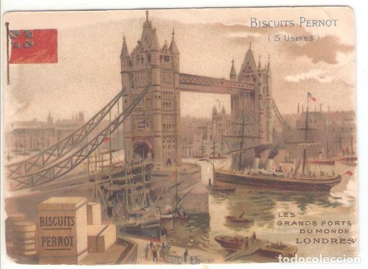TARJETA PUBLICITARIA, BISCUITS PERNOT, LONDRES (Postales - Postales Temáticas - Publicitarias)