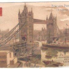 Postales: TARJETA PUBLICITARIA, BISCUITS PERNOT, LONDRES. Lote 194231430
