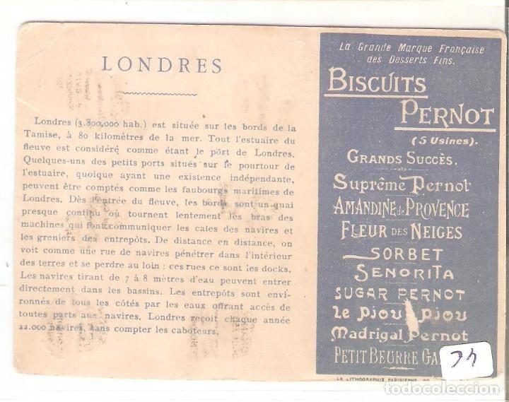 Postales: TARJETA PUBLICITARIA, BISCUITS PERNOT, LONDRES - Foto 2 - 194231430