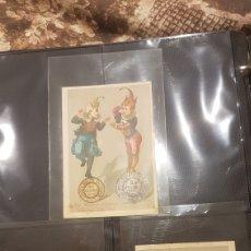 Postales: LOTE 3 CROMOS CONFITERIA Y COMESTIBLES LEANDRO GUSELL. Lote 194245782