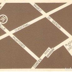 Postales: POSTAL PUBLICITARIA, CLINICA DOCTOR BARRAQUER, INAGURACION EDIFICIO CALLE MUNTANER, SIN CIRCULAR. Lote 194341055