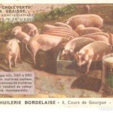 Postales: POSTAL PUBLICITARIA, PIENSO CROIX VERTE, GRANDE HUILERIE BORDALAISE, BORDEAUX, SIN CIRCULAR. Lote 194341358