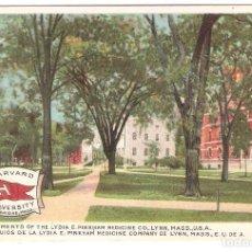 Postales: POSTAL PUBLICITARIA, HARDVARD UNIVERSITY, MASS.USA, SIN CIRCULAR. Lote 194341461