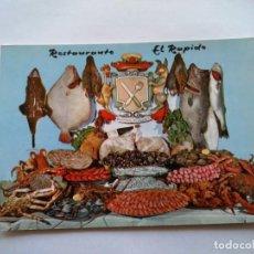 Postales: POSTAL -- RESTAURANTE EL RAPIDO -- LA CORUÑA -- SIN USO --. Lote 194500230