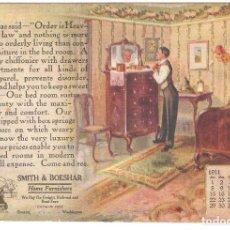 Postales: POSTAL PUBLICITARIA, MUEBILIARIO Y COCINAS SMITH&BOESHAR, SIN CIRCULAR. Lote 194524551