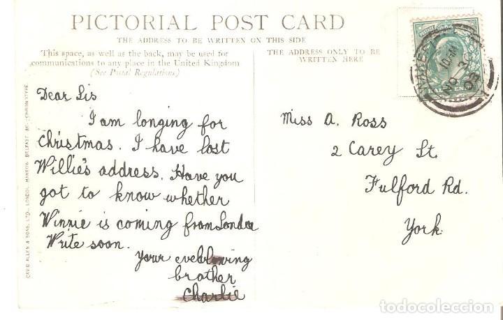 Postales: POSTAL PUBLICITARIA, LONDON DAILY MAIL, CIRCULADA CON SU SELLO - Foto 2 - 194525163