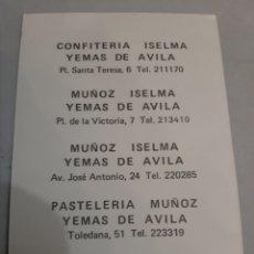Postales: AVILA PUBLICIDAD TIENDA FOTO COCHES ÉPOCA MUÑIZ ISELMA PASTELERÍA. Lote 194599968