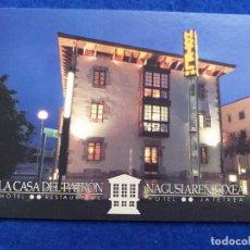 Postales: POSTAL DE MURGUIA, PAIS VASCO. PUBLICIDAD DEL HOTEL RESTAURANTE LA CASA DEL PATRON. Lote 194704402