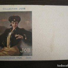 Postales: PUBLICIDAD PAPEL DE FUMAR JOB-ILUSTRADA POR RAMON CASAS-POSTAL ANTIGUA-REVERSO SIN DIVIDIR-(67.894). Lote 194728335