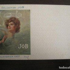 Postales: PUBLICIDAD PAPEL DE FUMAR JOB-ILUSTRADA POR VILLA-POSTAL ANTIGUA-REVERSO SIN DIVIDIR-(67.898). Lote 194728735