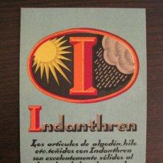 Postales: INDANTHREN-POSTAL PUBLICIDAD ANTIGUA-VER FOTOS-(67.900). Lote 194729072