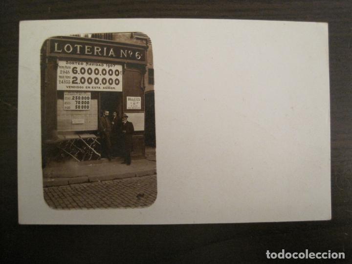 POSTAL FOTOGRAFICA ANTIGUA DE UN ESTANCO DE LOTERIA-AÑO 1907-VER FOTOS-(67.917) (Postales - Postales Temáticas - Publicitarias)