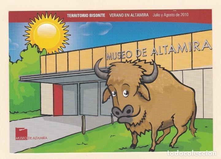 POSTAL MUSEO DE ALTAMIRA. CANTABRIA - HORARIOS JULIO Y AGOSTO 2010 (Postales - Postales Temáticas - Publicitarias)