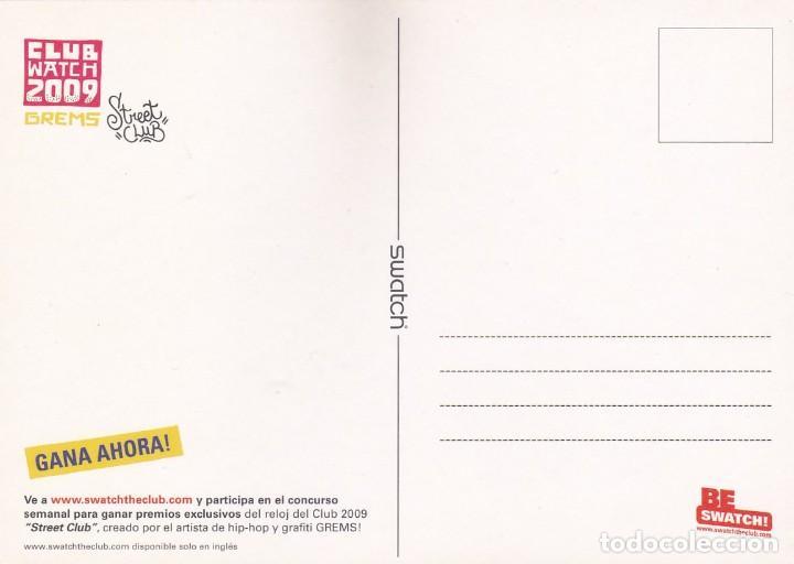 Postales: POSTAL RELOJ SWATCH. CLUB WATCH 2009 - Foto 2 - 194904047