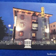 Postales: POSTAL DE MURGUIA, PAIS VASCO. PUBLICIDAD DEL HOTEL RESTAURANTE LA CASA DEL PATRON. Lote 194908870