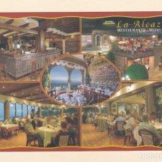Postales: POSTAL RESTAURANTE LA ALCAZADA. MIJAS PUEBLO. MALAGA. Lote 194974467