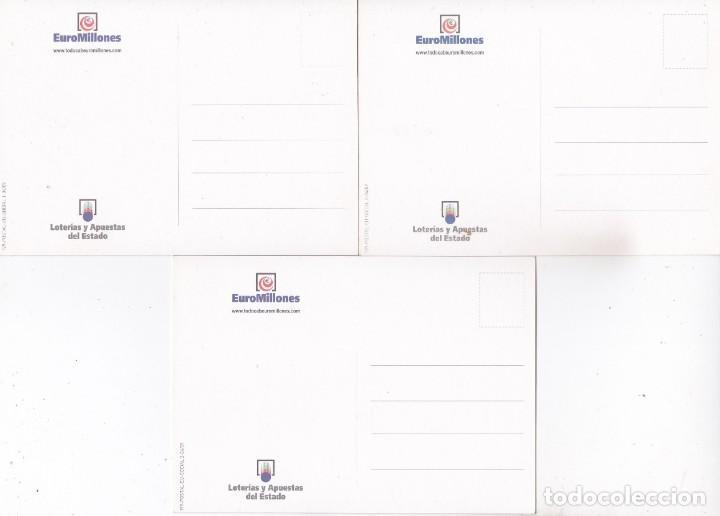 Postales: 3 POSTALES EUROMILLONES. LOTERIAS Y APUESTAS DEL ESTADO - Foto 2 - 195051893
