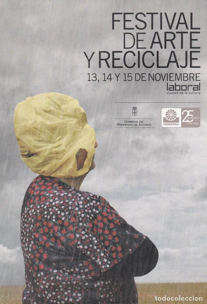 POSTAL FESTIVAL DE ARTE Y RECICLAJE. LABORAL, CIUDAD DE LA CULTURA. ASTURIAS (Postales - Postales Temáticas - Publicitarias)