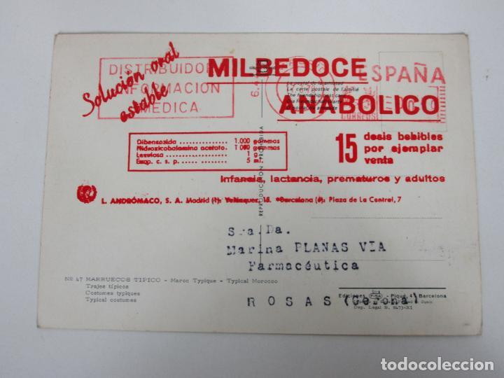 TARJETA PUBLICITARIA MILBEDOCE ANABOLICO - FARMACIA, MEDICO - PRODUCTOS MEDICINALES (Postales - Postales Temáticas - Publicitarias)