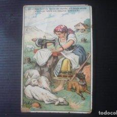 Postales: MÁQUINA DE COSER SINGER. Lote 195190958