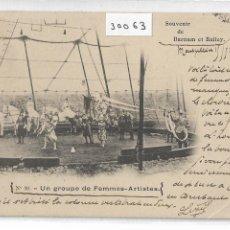 Postales: CIRCO - CABALLOS - MUJERES ARTISTAS - BARNUM ET BAILEY - 1902 - P30063. Lote 195205846