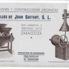 Postales: FUNDICIÓN Y CONSTRUCCIONES MECÁNICAS - HIJOS DE JUAN GUITART - ZARAGOZA - P30046. Lote 195218702