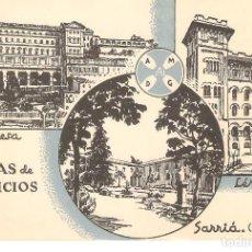 Postales: POSTAL PUBLICITARIA, CASAS DE EJERCICIOS , SARRIA, MANRESA, LERIDA, SIN CIRCULAR. Lote 195231077