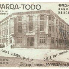 Postales: POSTAL PUBLICITARIA, GUARDA TODO, CASA SALAT, CALLE LÉRIDA/JUNCOSA, BARCELONA,CIRCULADA. Lote 195231177