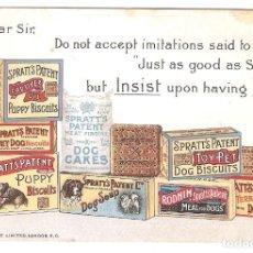 Postales: POSTAL PUBLICITARIA, GALLETAS, BISCUITS, CAKES PARA PERROS,SIN CIRCULAR. Lote 195231368