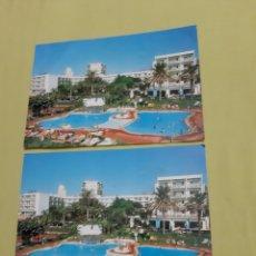 Postales: 2 POSTALES MÁLAGA (COSTA DEL SOL) HOTEL SIROCO. Lote 195239875