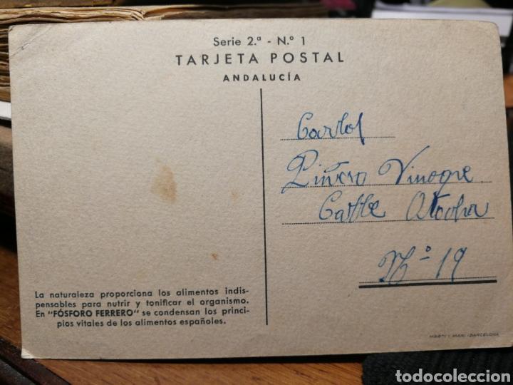 Postales: Fosforo ferrero. Publicidad de medicamento. Postal - Foto 2 - 195333218