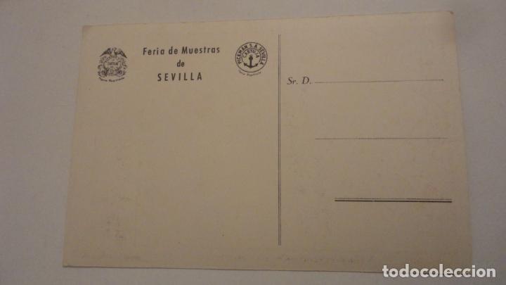 Postales: ANTIGUA POSTAL PUBLICITARIA.FABRICA DE LOZA.CARTUJA DE SEVILLA.FERIA DE MUESTRAS.GRAFICAS DEL SUR. - Foto 2 - 195333648