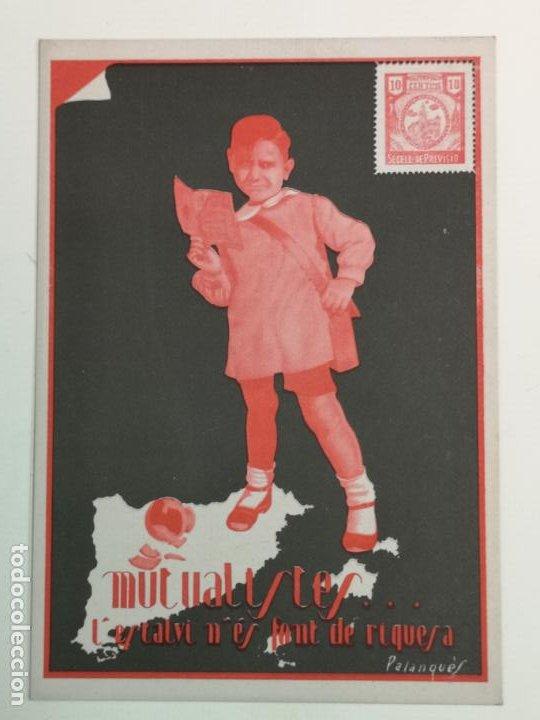 MUTUALISTAS, L'ESTALVI ES FONT DE RIQUESA (Postales - Postales Temáticas - Publicitarias)