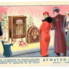 Postales: POSTAL ILUSTRADA PUBLICITARIA RADIO Y FONO ATWATER - KENT. Lote 195420721