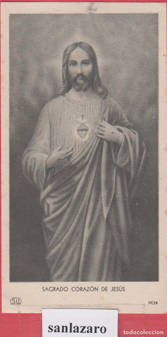 ESTAMPA RELIGIOSA SAGRADO CORAZÓN DE JESÚS EST.3801 (Postales - Postales Temáticas - Publicitarias)