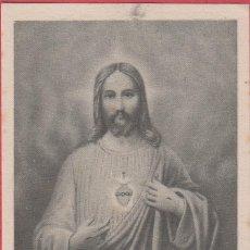 Postales: ESTAMPA RELIGIOSA SAGRADO CORAZÓN DE JESÚS EST.3801. Lote 195447855