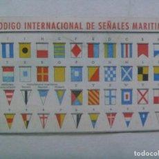 Postales: PEQUEÑA TARJETA PUBLICIDAD MATIN-VENTOSA, BANDERAS, ETC . CON CODIGO DE SEÑALES MARITIMAS. Lote 195459777