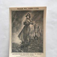 Postales: POSTAL PUBLICITARIA. IMPERMEABLES INGLESES MARCA EL GALLO. CONCESIÓN. PACAREU, SERIÑA Y VALLS. BARCE. Lote 195462245