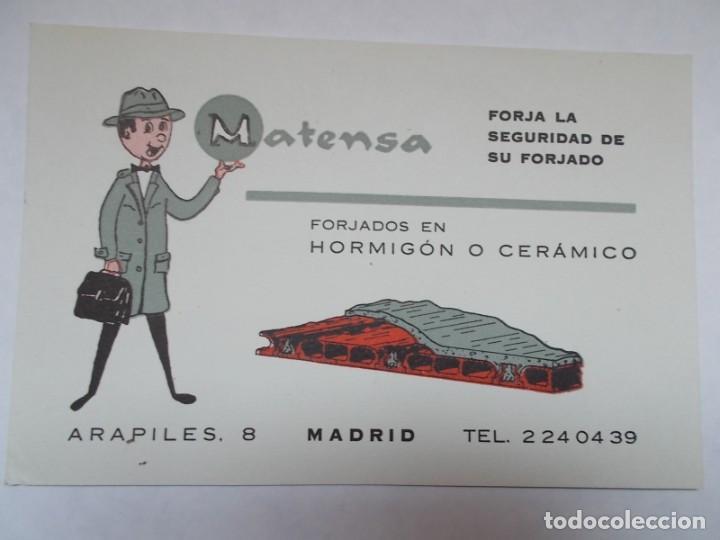 PUBLICIDAD AÑOS 60 MATENSA FORJADOS EN HORMIGÓN O CERÁMICO (Postales - Postales Temáticas - Publicitarias)