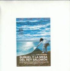 Postales: POSTAL BUÑUEL Y LA MESA DEL REY SALOMON. CARLOS SAURA. ESTRENO 9 DE NOVIEMBRE.. Lote 195506913