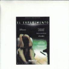 Postales: POSTAL EL EXPERIMENTO. ESTRENO 18 ENEROL. OLIVER HIRSCHBIEGEL.. Lote 195507303