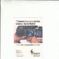 Postales: POSTALFREE. POSTAL 7º FESTIVAL INTERNACIONAL DE CINE LESBICO Y GAI DE MADRID.. Lote 195508152