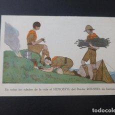 Postales: EXPLORADORES POSTAL HEMOSTYL PUBLICIDAD AÑOS 20. Lote 196287731